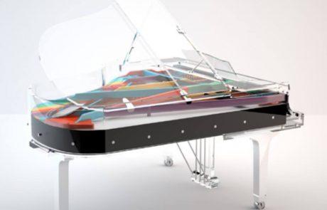 Блютнер прозрачный рояль